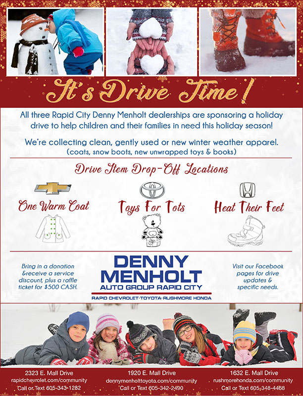 Denny Menholt Holiday Drives Toys for Tots Denny Menholt Toyota in Rapid City, South Dakota